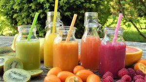 Zumos naturales, Frutas y verduras, para la limpieza del organismo