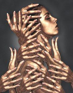 cuerpo de mujer en bronce - limpieza del cuerpo