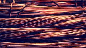 manojo de hilo de cobre